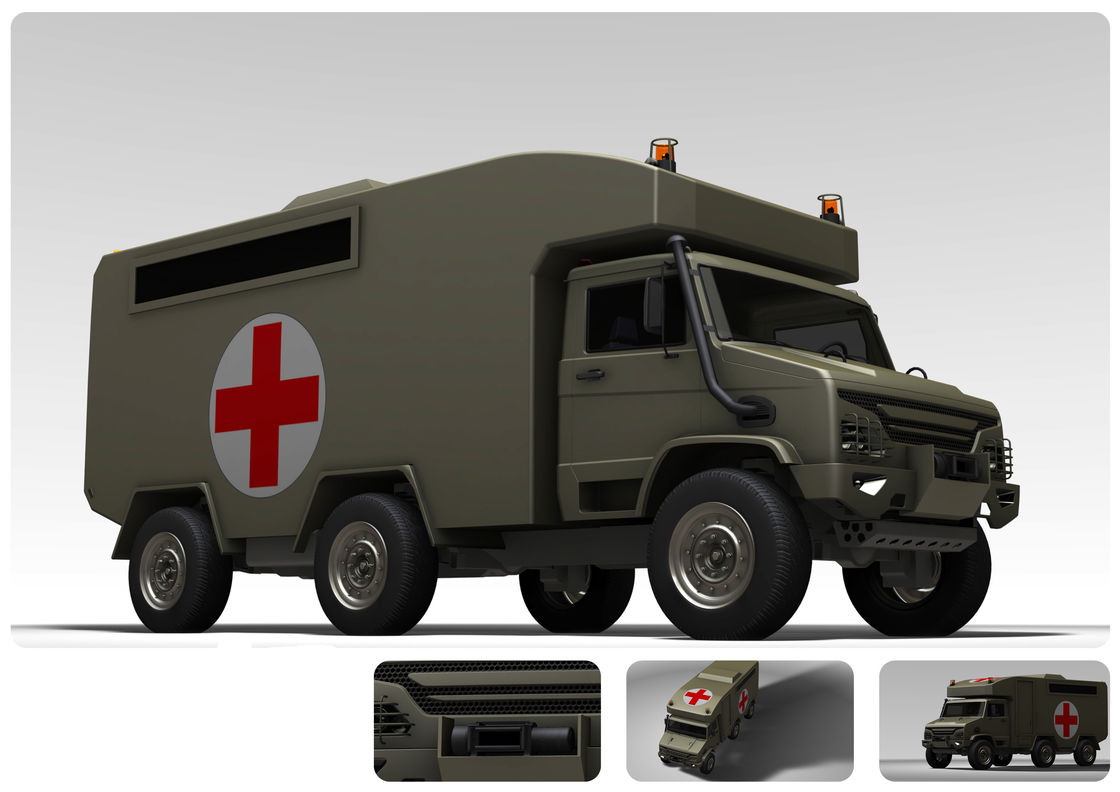 160 KW Emergency Medical Vehicle / Mobile Field Hospital With 3.2L Cummins Engine
